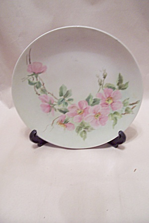 Holiday China Pink Flower Collector Plate