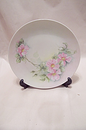 German Pink Flower Collector Plate