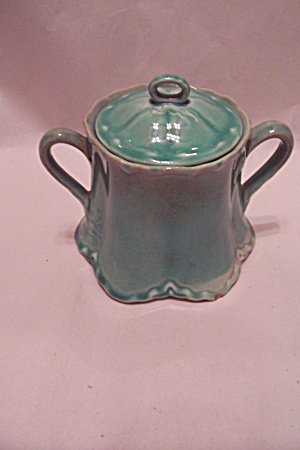 Green Sugar Bowl With Lid (Image1)