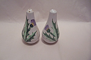 Thistle Motif Salt & Pepper Shaker Set