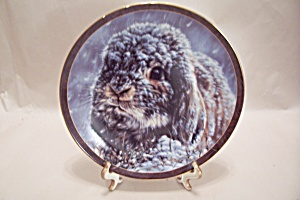 Bradford Exchange's - Snow Bunny Collector Plate