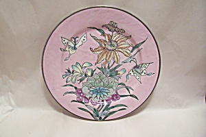 Butterfly & Flower Motif Collector Plate