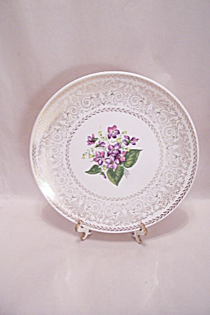 Spring Violet Collector Plate