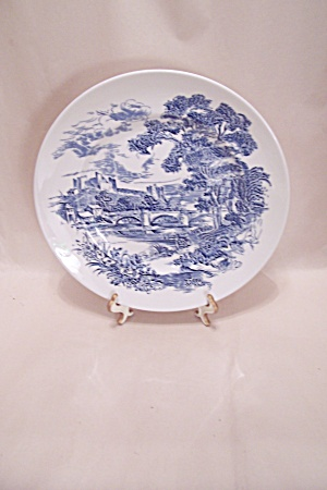 Wedgewood Flow Blue Countryside Collector Plate