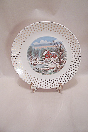 Winter Scene Collector Plate