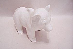 Occupied Japan White Pocelain Bear Figurine (Image1)