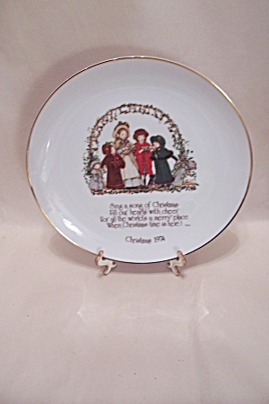 Holly Hobbie Commemorative Christmas 1974 Plate