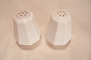 White China Salt & Pepper Shaker Set
