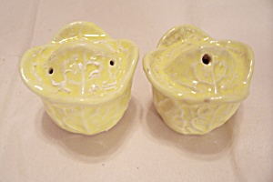 Yellow Tulip Shaped Salt & Pepper Shaker Set (Image1)