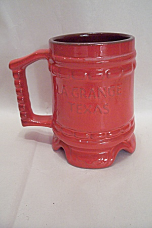 Frankoma La Grange, Texas Flame Commemorative Mug