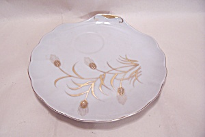 Lefton Gilt Trim Snack Plate