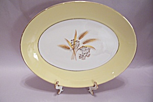 Century Services Autumn Gold Pattern Oval Platter