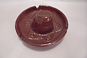Brown Sombrero Ash Tray