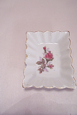 Occupied Japan Rose Decal Ash Tray
