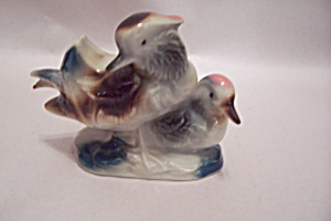 Occupied Japan Pair  Of Ducks Porcelain Figurine (Image1)