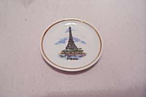 Tiny Miniature Paris, France Souvenir Collector Plate