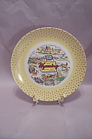 Wyoming Souvenir Collector Plate