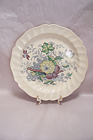 Kirkwood Multicolor Flowers & Fruit Pattern Chop Plate