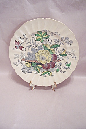 Kirkwood Multicolor Flowers- Fruit Pattern Dinner Plate