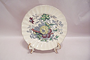 Kirkwood Multicolor Flowers-fruit Luncheon Plate