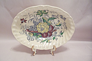 Kirkwood Multicolor Flowers & Fruit Pattern Oval Bowl (Image1)