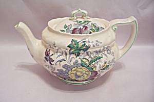 Kirkwood Multicolor Flowers & Fruit Pattern Teapot  (Image1)