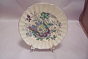 Kirkwood Multicolor Flowers & Fruit Pattern Saucer (Image1)