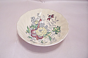 Kirkwood Multicolor Flowers & Fruit Pattern Cereal Bowl