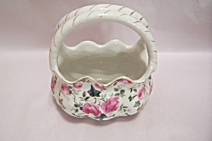Formalities Flower Decorated  Porcelain Basket (Image1)