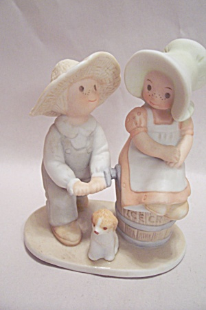 Masterpiece home interiors boy girl dog figurine figurines people misc at bg 39 s classic art for Home interior masterpiece figurines