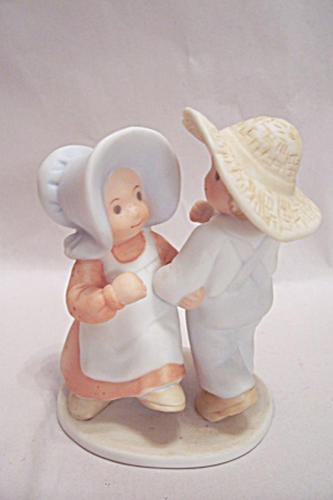 Masterpiece Boy And Girl Porcelain Figurine