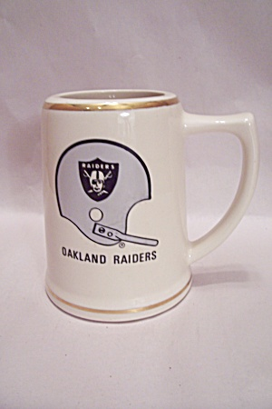 Nfl Oakland Raiders Porcelain Beer Mug