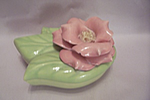Don Jay Ceramic Rose Motif Lidded Light Green Bowl/Dish (Image1)