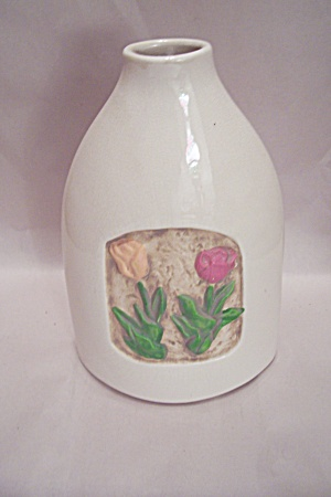 Tulip Motif Bottle Vase