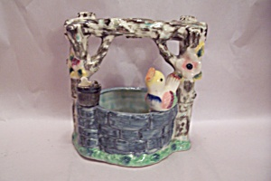 Occupied Japan Porcelain Wishing Well Cache Pot  (Image1)