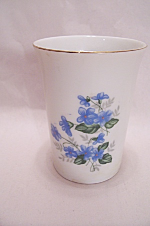 Occupied Japan Blue Flower Porcelain Vase (Image1)