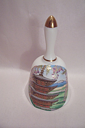 Japanese Pagoda And Mt. Fuji Porcelain Collector Bell (Image1)