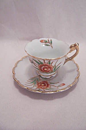 Occupied Japan Demitasse Cup & Saucer Set (Image1)