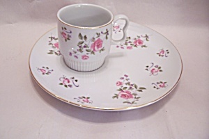 Royal Geoffrey Fine China Snack Plate & Cup Set