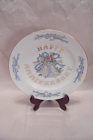 Happy Anniversary Hand Painted Lefton Fine China Plate
