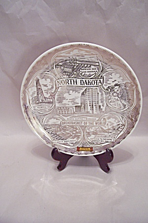 North Dakota Porcelain Souvenir Collector Plate