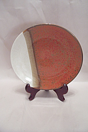 Pottery Collector Plate With Tri-colors