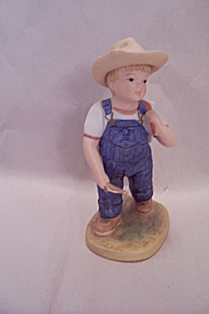 Denim Days Porcelain Boy Going To School Figurine (Image1)
