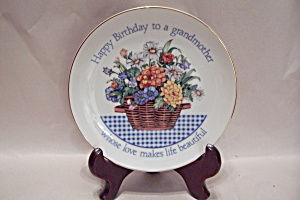 Happy Birthday To A Grandmother Collector Plate