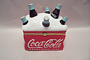 Porcelain Coca Cola Cooler Lidded Cache Box