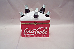 Porcelain Coca Cola Cooler Cache Box