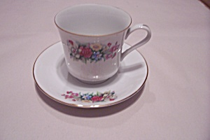 Floral Bouquet Pattern Teacup & Saucer Set (Image1)