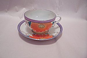 Occupied Japan Lustre Ware Teacup & Saucer