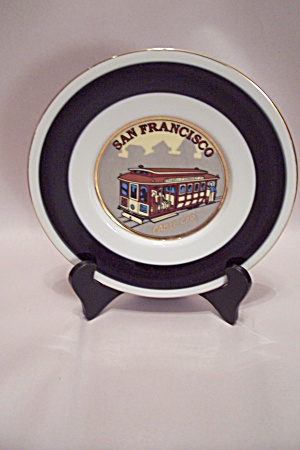 San Francisco Cable Car Souvenir Collector Plate (Image1)