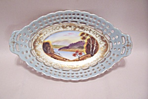 Occupied Japan Handpainted Oval Bowl (Image1)